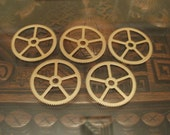 Large Brass Gears 35mm across-- Steampunk and Scrapbooking Supplies