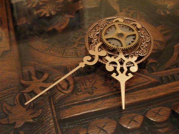 Steampunk Clockwork Brooch