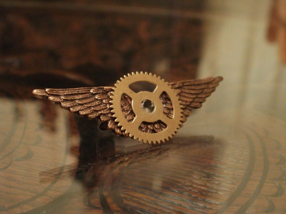 Steampunk Sky Captain Badge in Copper