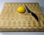 Poplar Checkered Countertop Butcher Block Cutting Board Light Wood Cutting Board Light Wood Butcher Block Custom Cutting Board Gift Idea