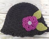 Purple Flower Shell Cloche