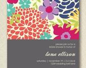 floral bridal shower invite PRINTABLE  digital file DIY