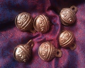 Six Giggle Fish Bells Hippie Tribal Copper Metal Dread Accessories-Ready To Ship