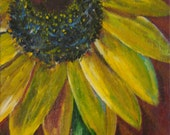 "Original, hand painted contemporary ""black eyed"" susan flower by Joyce Tremethick"