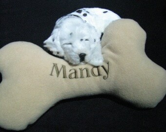 Large Dog Bone with YOUR pet's name embroidered