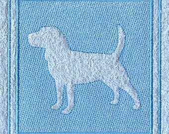 Beagle Embossed Style Embroidered Flour Sack Hand/Dish Towel