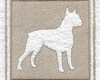 Boxer Embossed Style Embroidered Flour Sack Hand/Dish Towel