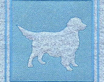Golden Retriever Embossed Style Embroidered Flour Sack Hand/Dish Towel