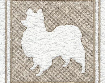 Papillon Embossed Style Embroidered Flour Sack Hand/Dish Towel