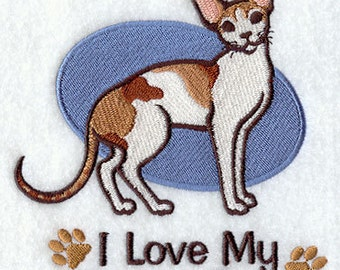 I Love My Devon Rex Embroidered Flour Sack Hand/Dish Towel