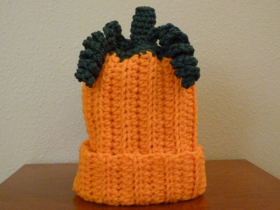 Pumpkin Baby Hat Size 0-3 Months - Ready to Ship -