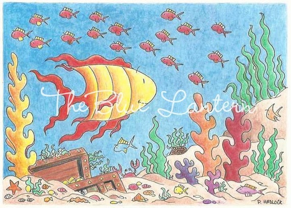 Under the Sea Treasure Chest Illustration