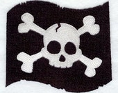4x pirate themed Embroidered Terry Cloth Hand Towels