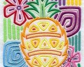 Mola Pineapple Embroidered Flour Sack Hand Towel