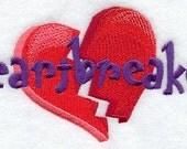 Heartbreaker Embroidered Flour Sack Hand/DIsh Towel