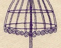 Filigree Dress Form Embroidered Flour Sack Hand/Dish Towel