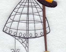 Witchy Dress Form Embroidered Flour Sack Hand/Dish Towel