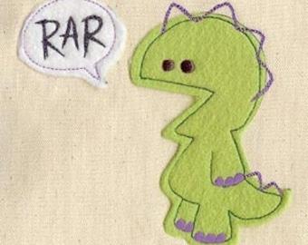 Rar Monster Speaks Fleece Applique Embroidery