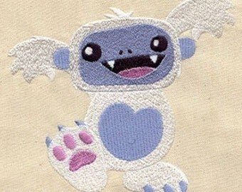 Yeti/Abominable Snowman Embroidered Flour Sack Hand/Dish Towel