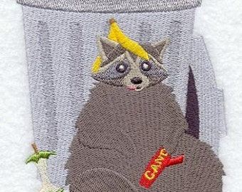 Got Trash Raccoon Embroidered Flour Sack Hand/Dish Towel