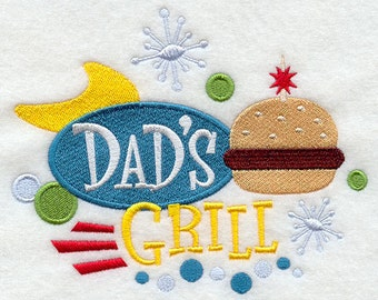 Dad's Grill Embroidered Flour Sack Hand/Dish Towel