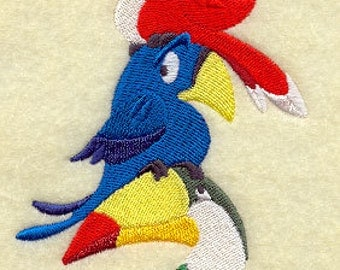 Parrot and Toucan Stack Embroidered Flour Sack Hand/Dish Towel
