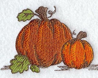 Elegant Pumpkins Embroidered Flour Sack Hand/Dish Towel