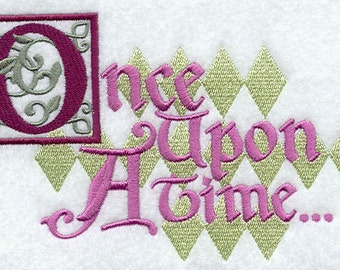 Once Upon A Time Embroidered Flour Sack Hand/Dish Towel