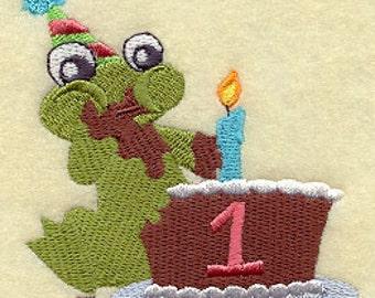 Hoppy First 1st Birthday Embroidered Flour Sack Hand/Dish Towel