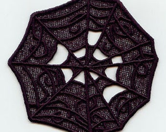 Lace SpiderwebEmbroidered Flour Sack Hand/Dish Towel