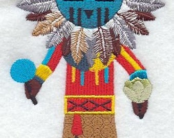 Sun Kachina Embroidered Flour Sack Hand/Dish Towel