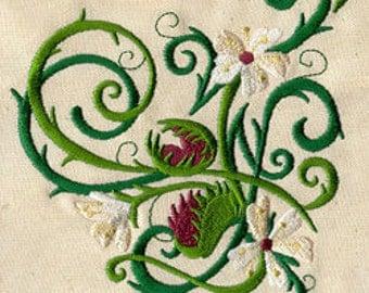 Venus Flytrap Embroidered Flour Sack Hand/Dish Towel
