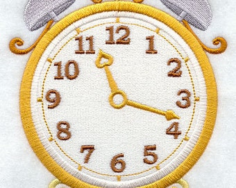 Ornate Clocks Embroidered Flour Sack Hand/Dish Towel