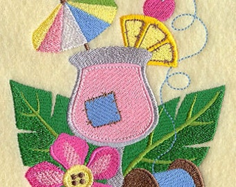 Cool, Refreshing and Crafty Embroidered Flour Sack Hand/Dish Towel