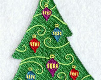 Whismy Christmas Tree Embroidered Flour Sack Hand/Dish Towel