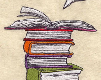 Book Love Embroidered Flour Sack Hand/Dish Towel