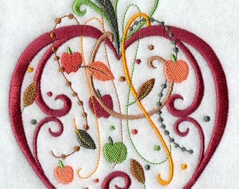 Spangled Apple Embroidered Flour Sack Hand/Dish Towel