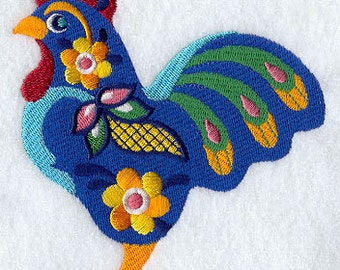 Gallo Rooster Embroidered Flour Sack Hand/Dish Towel