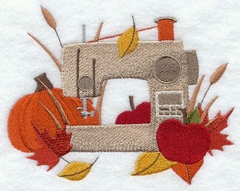 Falling for Autumn Stitching Embroidered Flour Sack Hand/Dish Towel