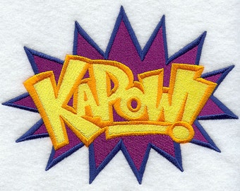 Cartoon Comic Book KAPOW Embroidered Flour Sack Hand/Dish Towel