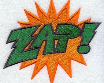 Cartoon Comic Book ZAP Embroidered Flour Sack Hand/Dish Towel