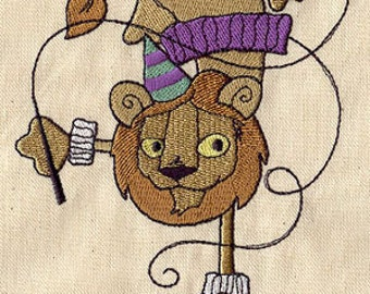 Lion Untamed Embroidered Flour Sack Hand/Dish Towel