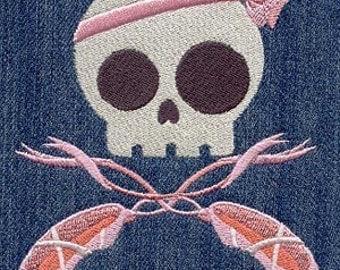 Ballerina Skully Embroidered Flour Sack Hand/Dish Towel