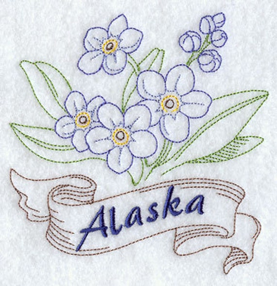 Alaska state flower forget me nots flour sack handdish towel like this item ccuart Image collections