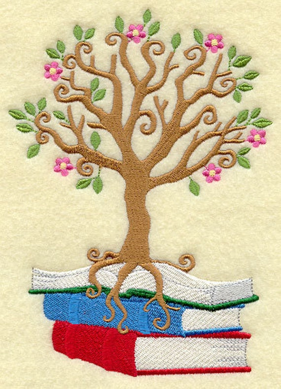 Roots of Reading Embroidered Flour Sack Hand/Dish Towel