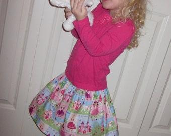 Custom Boutique Princess Castle Fairytale Twirl Skirt  6 12 18 24 2T 3T 4T 5 6 7/8