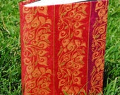 Red and Gold Victorian Floral Journal