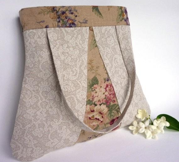 Floribunda Handbag in tan - French Provincial styling