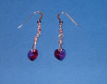Pink Heart Loops (Earrings)