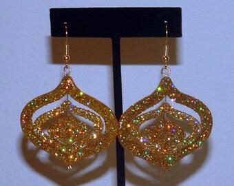Christmas Gold Glitter Ornament